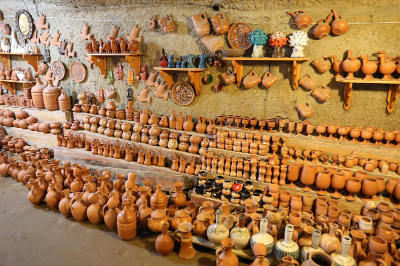 Souvenir shop in Cappadocia, Turkey. Souvenir shop in Avanos Town, Cappadocia, Turkey royalty free stock images