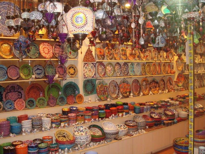 Souvenir shop. In Istanbul Turkey stock photos