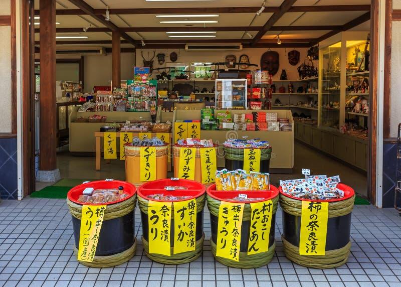 Souvenir shop at Nara Park in Nara, japan. NARA, JAPAN - NOVEMBER 16: Souvenir Shop in Nara, Japan on November 16, 2013. Wide variety products provided for stock photos