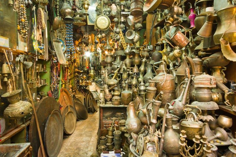 Souvenir shop. A souvenir shop at the old city of Jerusalem royalty free stock photos