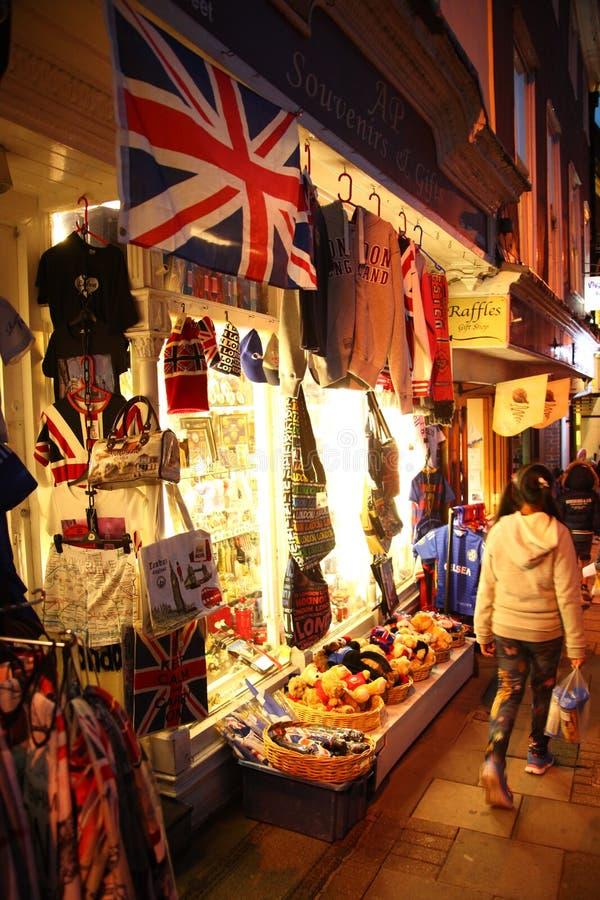 Souvenir shop scene. royalty free stock photography