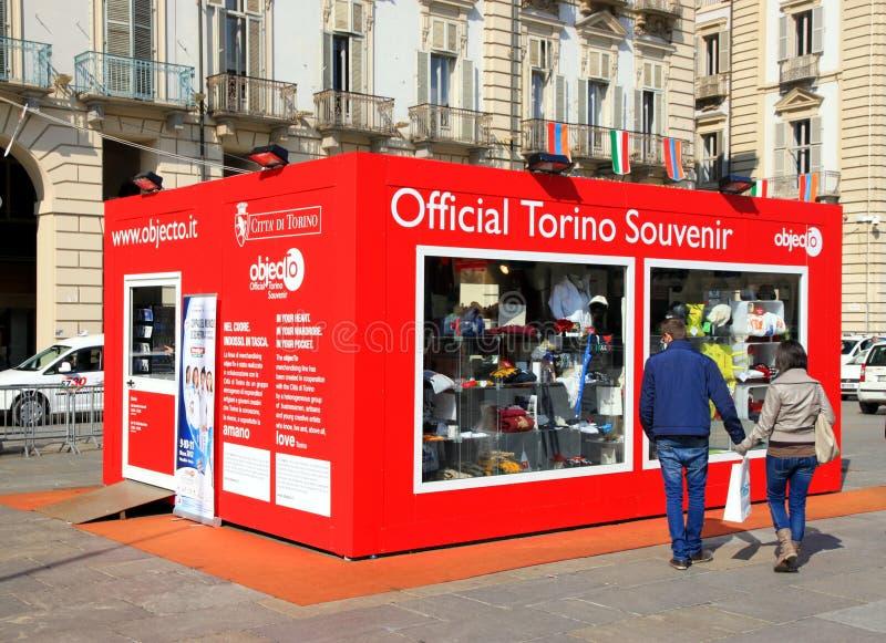 Souvenir Shop In Turin Editorial Photography