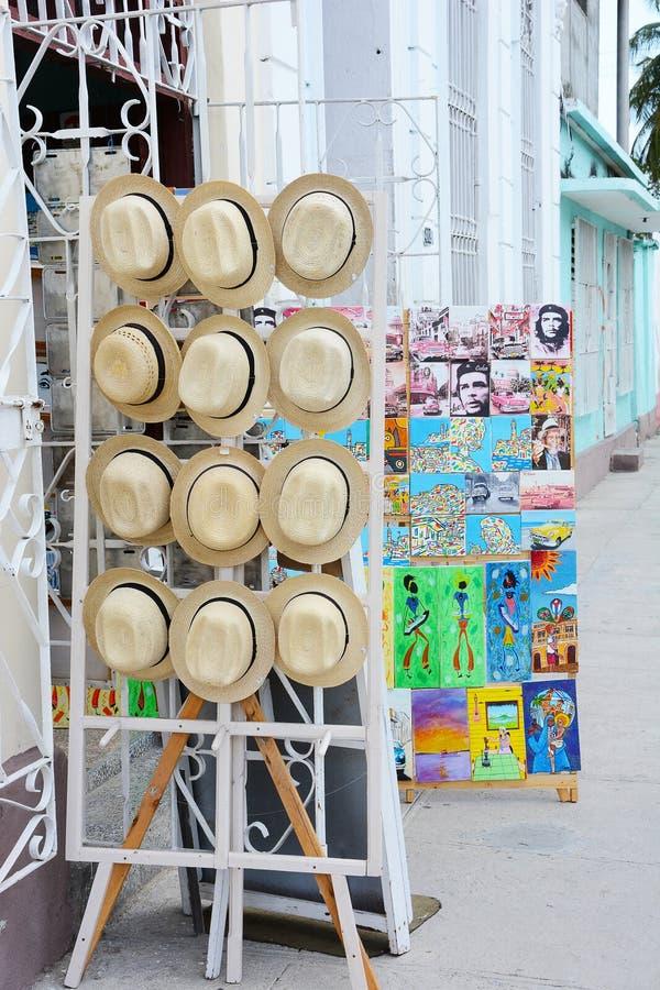 Souvenir shoppar Cienfuegos arkivfoton