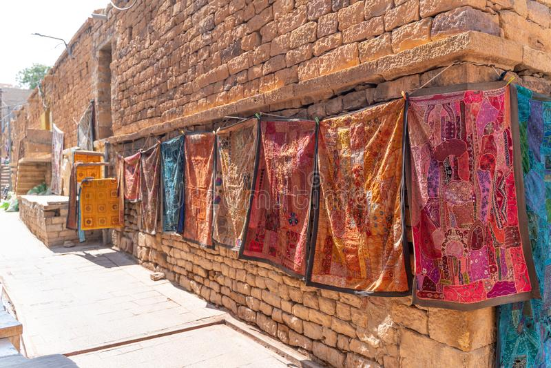 Souvenir shoppar i indiskt fort arkivfoto