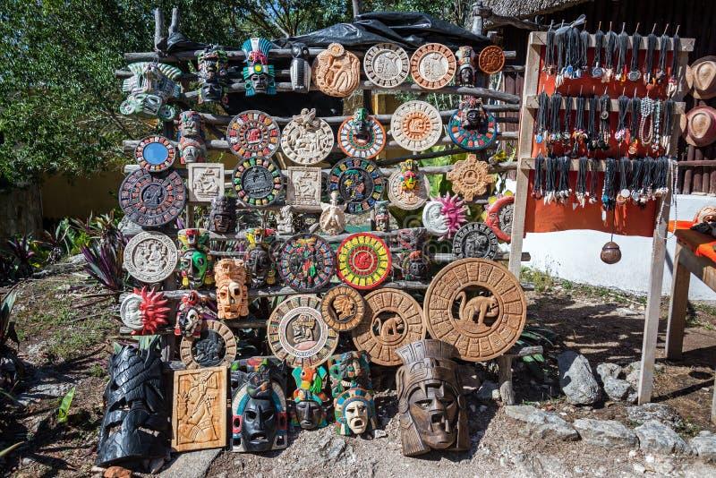 Souvenir Stand in Ek Balam royalty free stock image
