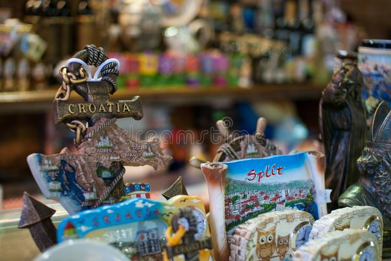 Souvenir stand, Split Croatia royalty free stock photography