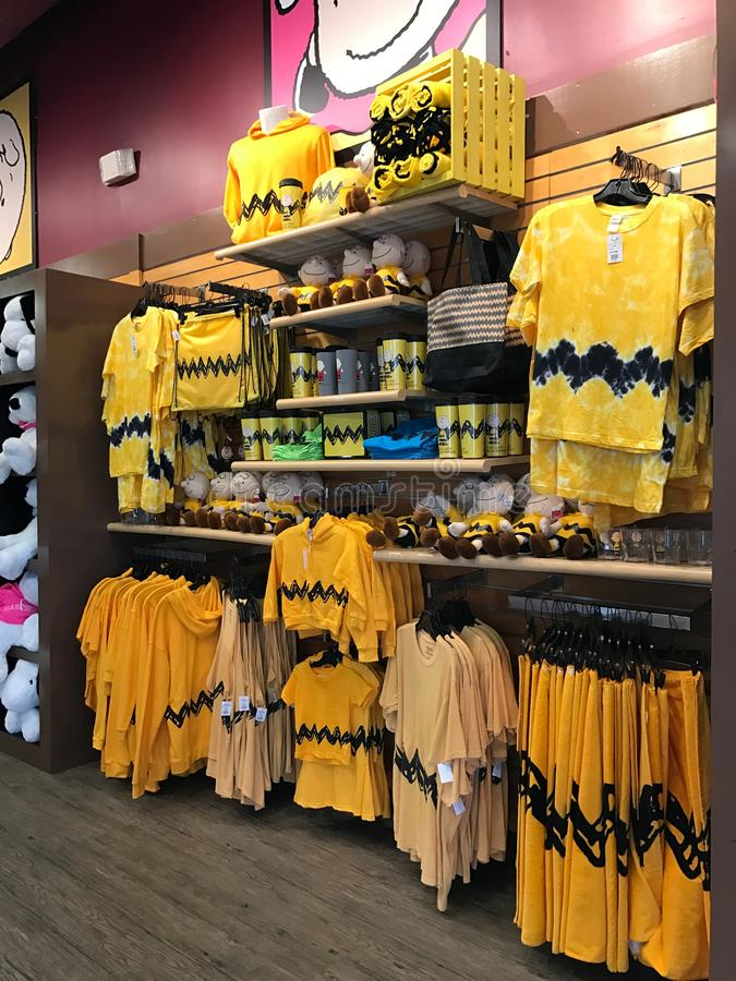 Souvenir Store in Camp Snoopy at Carowinds in Charlotte, North Carolina.  royalty free stock images