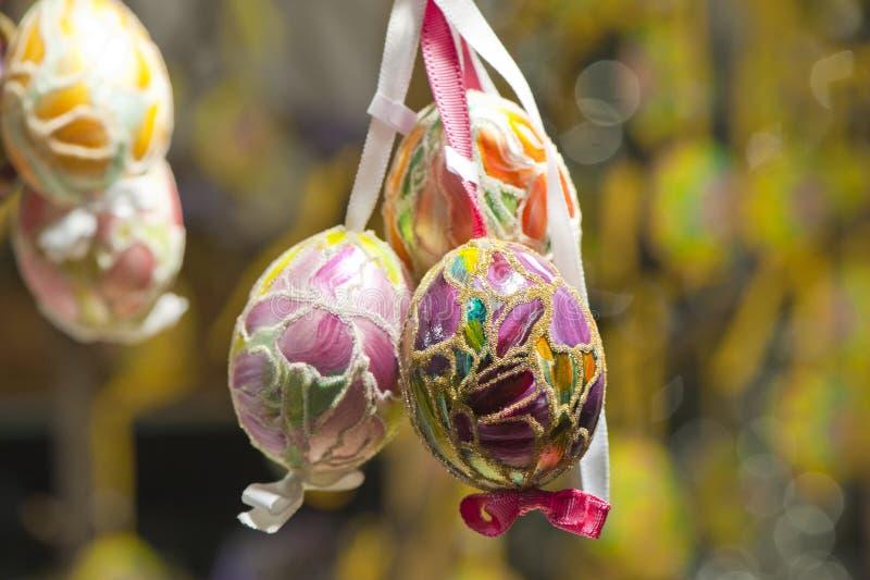 At the Souvenir Store. Colorful eggs at souvenir store stock image