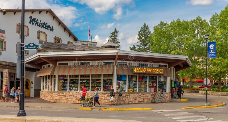Souvenir Store Jasper National Park. In the town of Jasper Alberta stock photos