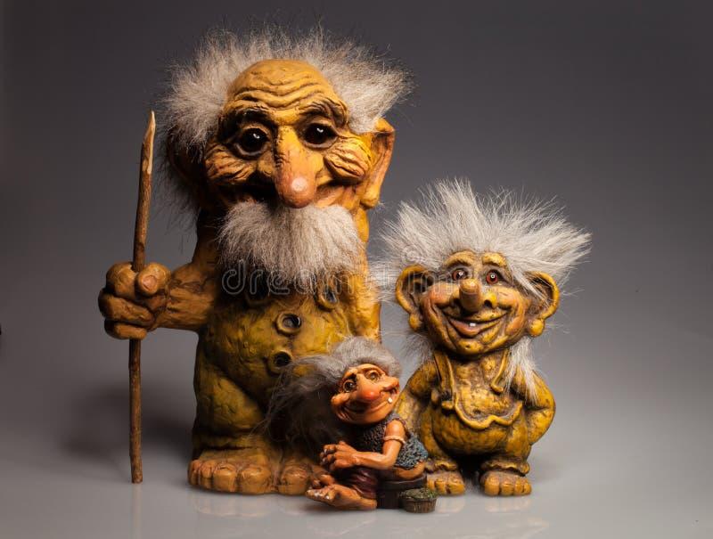 Souvenir traditionnel de Troll de Norvège photographie stock libre de droits