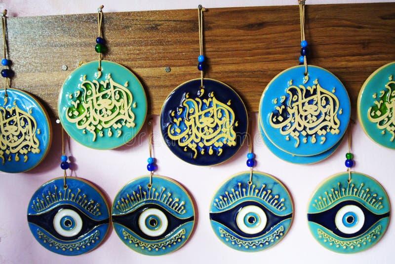 Souvenir, vakmanschap van de Iraanse potter Reza Ebadi, Natanz, Isfahan, IRAN royalty-vrije stock afbeelding
