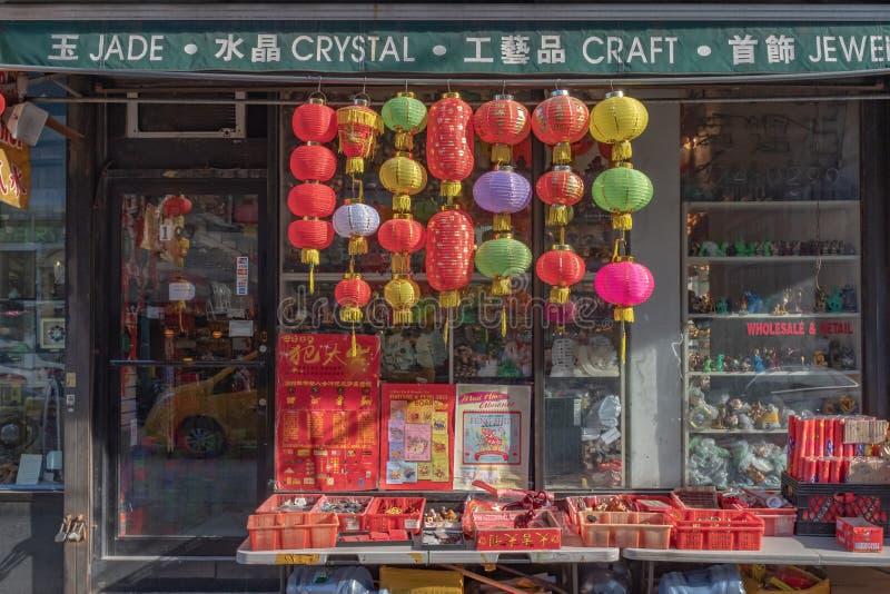 Souvenirladen in Chinatown stockfotos
