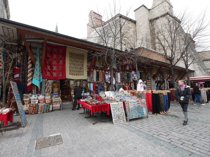 Souvenirladen Hagia Sopia Kirche Istanbul die Türkei lizenzfreie stockfotografie
