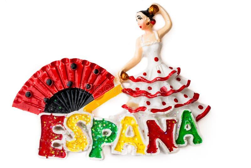 Souvenirmagneten - den spanska dansaren royaltyfri bild