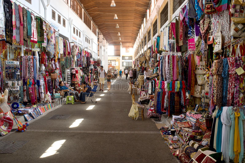 Souvenirmarknad i Lefkosia royaltyfria bilder