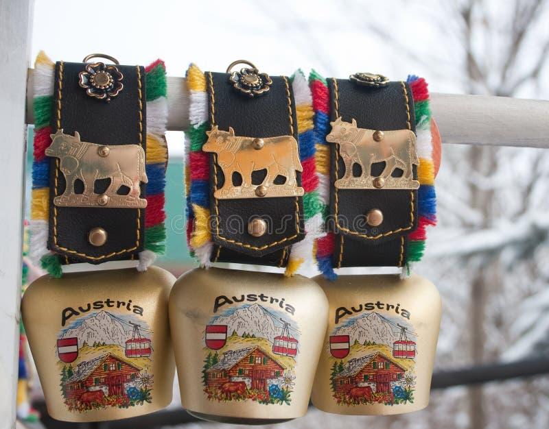 Souvenirs d'Autriche. Bells photos stock