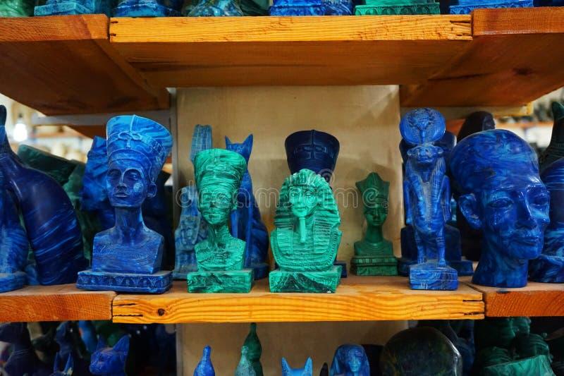 souvenirs de l'Egypte d'azurite et de malachite image libre de droits