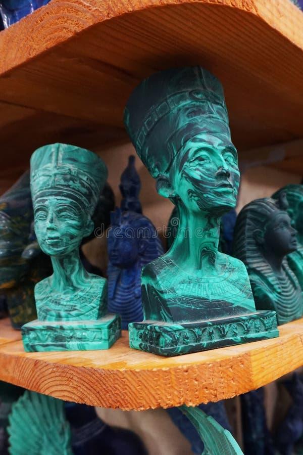 souvenirs de l'Egypte d'azurite et de malachite photographie stock
