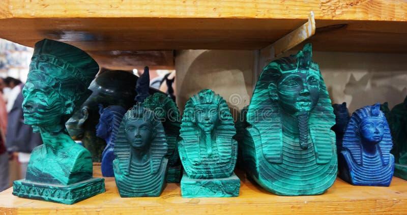 souvenirs de l'Egypte d'azurite et de malachite images stock