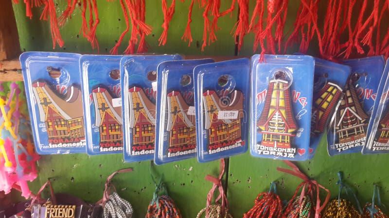souvenirs de toraja photographie stock