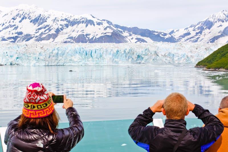 Souvenirs de vitesse normale de l'Alaska au glacier de Hubbard images libres de droits