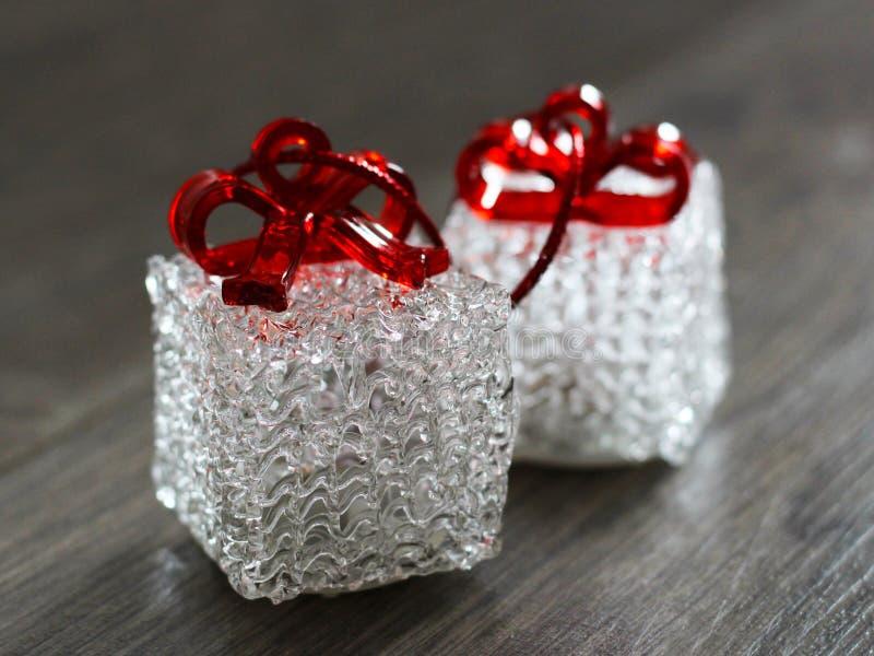 Souvenirs en verre pendant la bonne année, cadeau si étroit photos stock