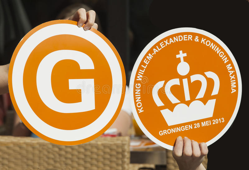Souvenirs made for visit Dutch royal pair to Groningen royalty free stock image
