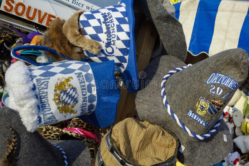 Oktoberfest beer festival in Munich, Germany. Souvenirs at the Oktoberfest in Munich, Bavaria, Germany, Europe stock images
