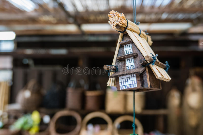 Souvenirs in Shirakawa-go. Small wooden gassho houses souvenirs in Shirakawa-go. Shirakawa-go is one of Japan's UNESCO World Heritage Sites located in Gifu royalty free stock photography
