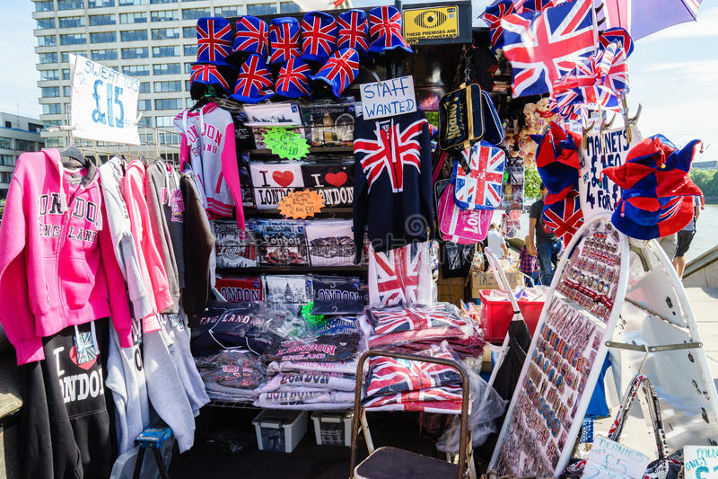 Souvenirs shop in London stock image