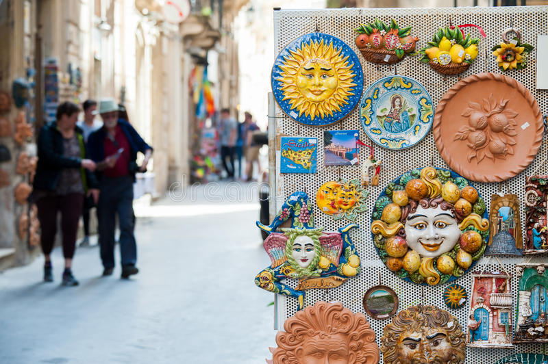 Souvenirs from Sicily royalty free stock photos