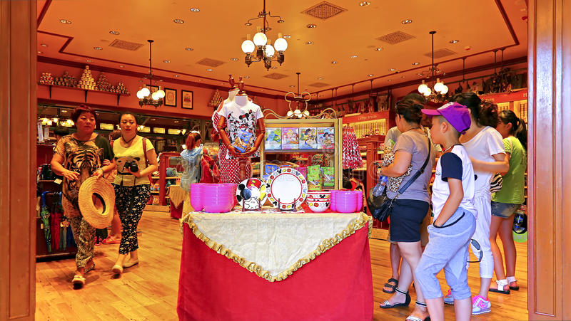 Disney Kids Store At Disneyland Hong Kong Editorial Stock
