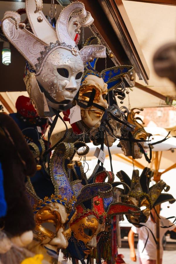 Souvenirs traditionnels d'Italie Masque v?nitien Venise photos stock