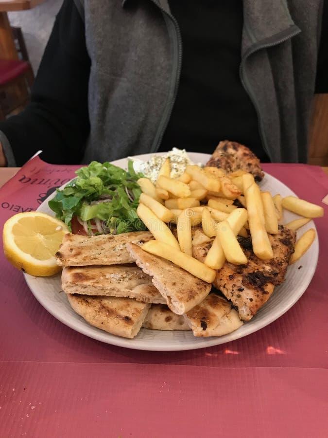 Souvlaki, Leros, Dodecanese, Grèce images stock