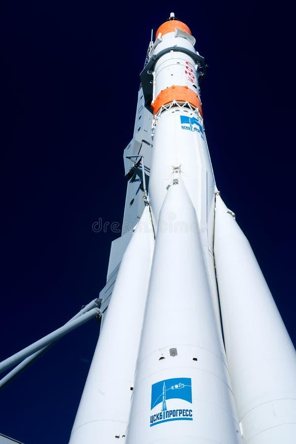 Souz rakieta przeciw ciemnemu niebu obraz royalty free