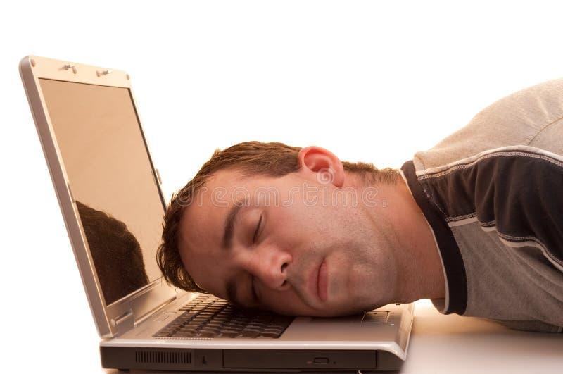 sova arbete royaltyfri bild