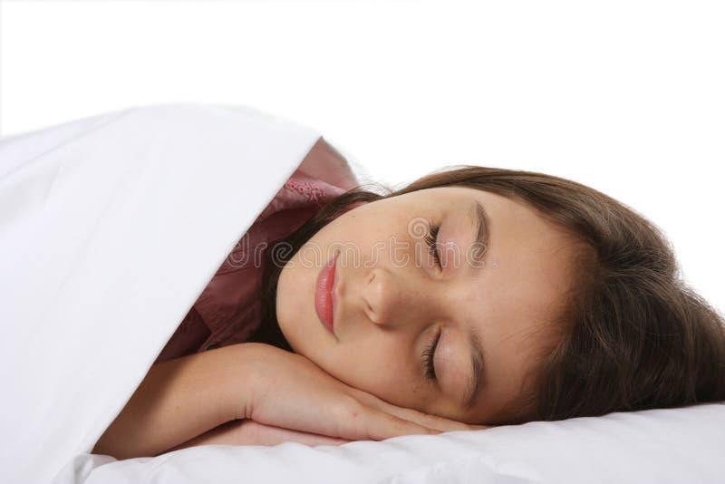 sova barn för barnflicka royaltyfria foton