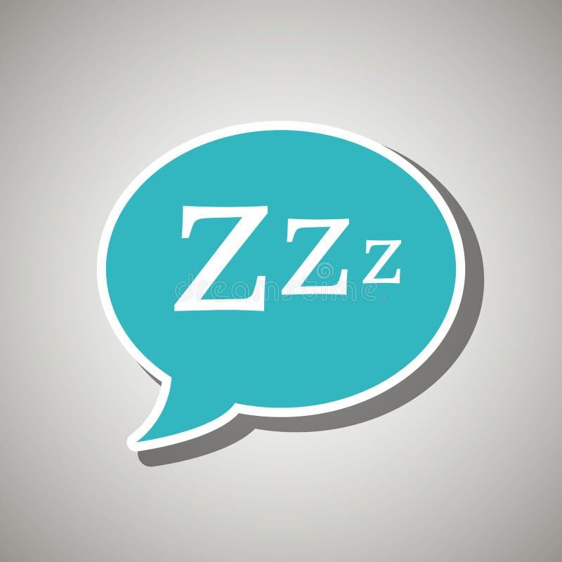 sova begreppsdesign stock illustrationer