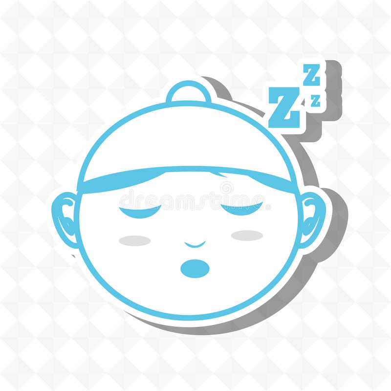 sova begreppsdesign royaltyfri illustrationer
