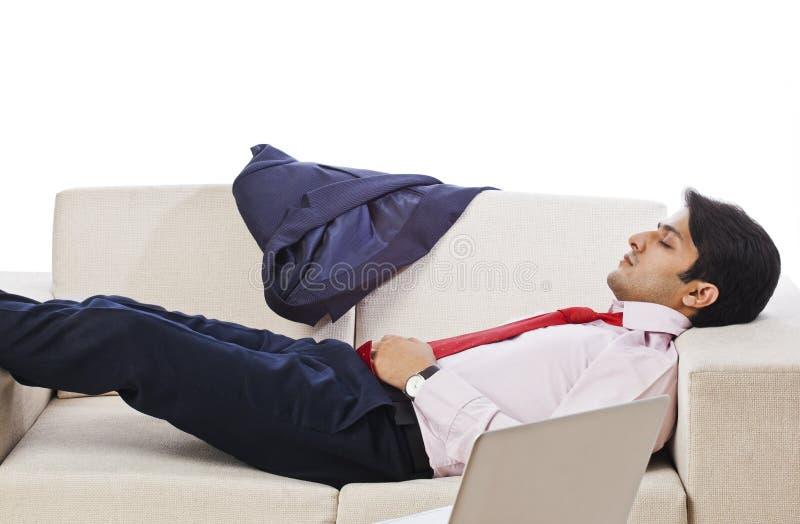 Sova för affärsman arkivfoto