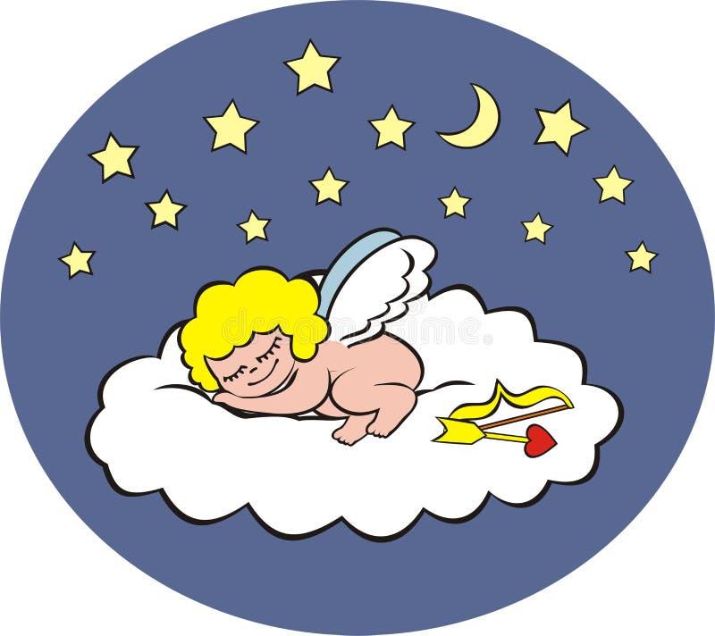sova för cupid royaltyfri illustrationer