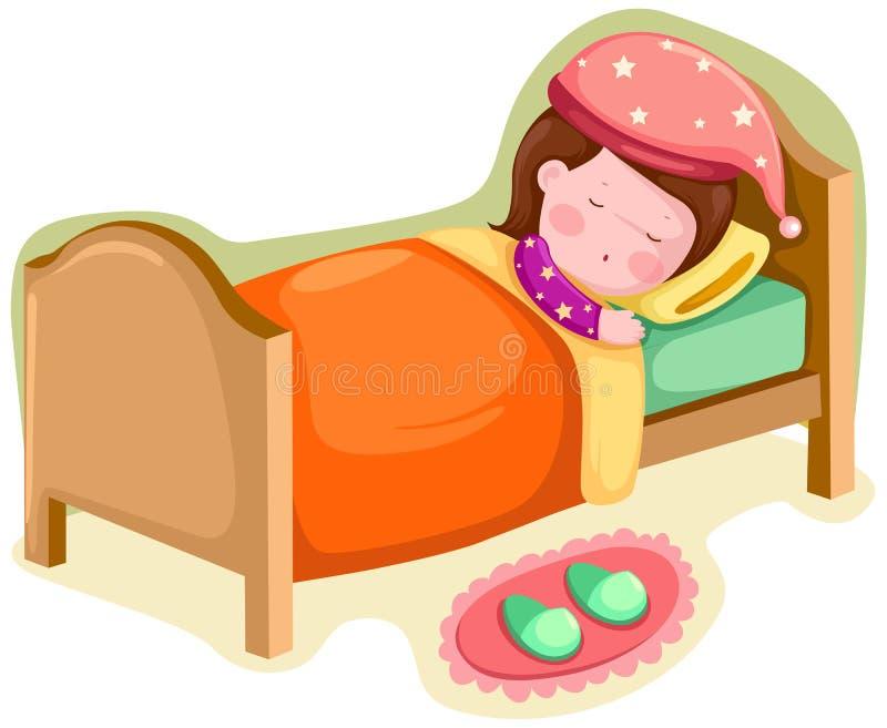 Sova för flicka vektor illustrationer