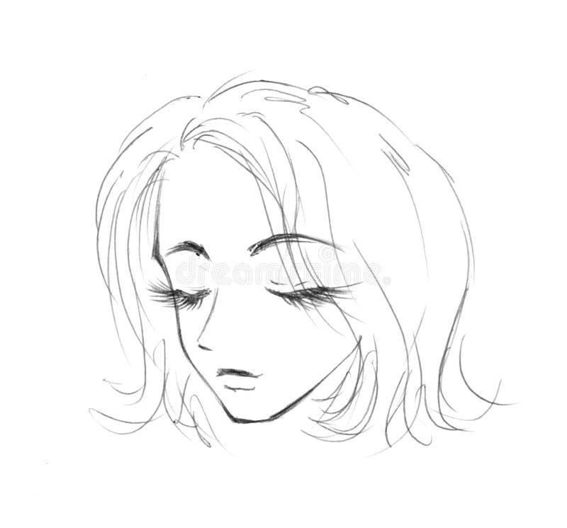 sova för flicka royaltyfri illustrationer