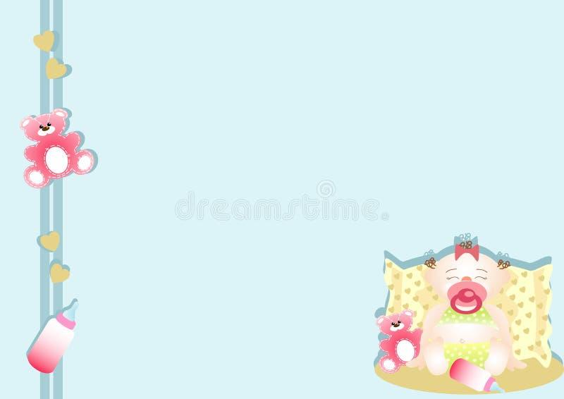 sova för flicka för underkant som lugnat är litet mycket royaltyfri illustrationer