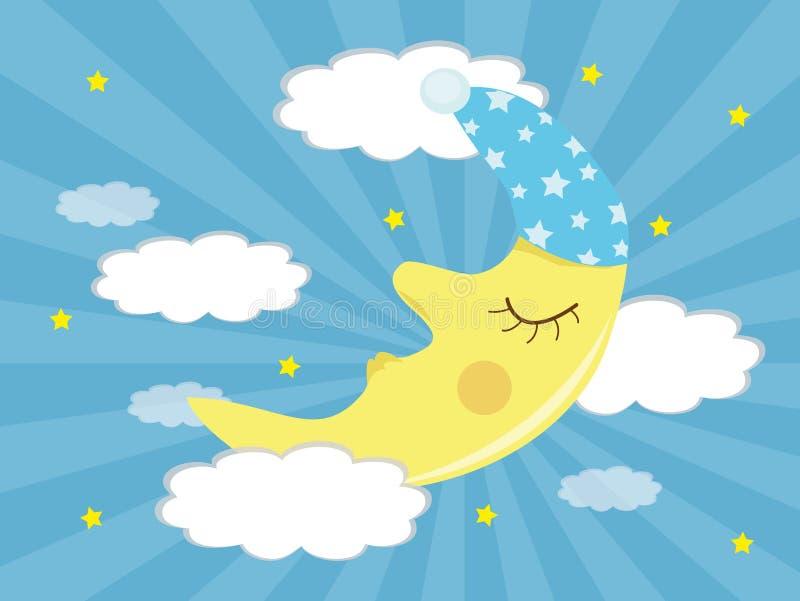 sova för moon vektor illustrationer