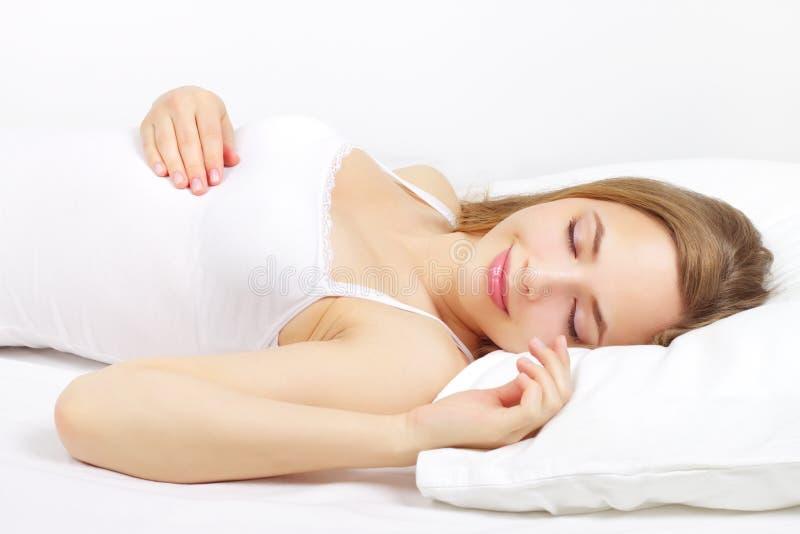 sova för underlagflicka arkivbild
