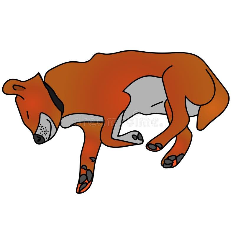 sova f?r hund isolerat lagerf?ra illustrationen stock illustrationer