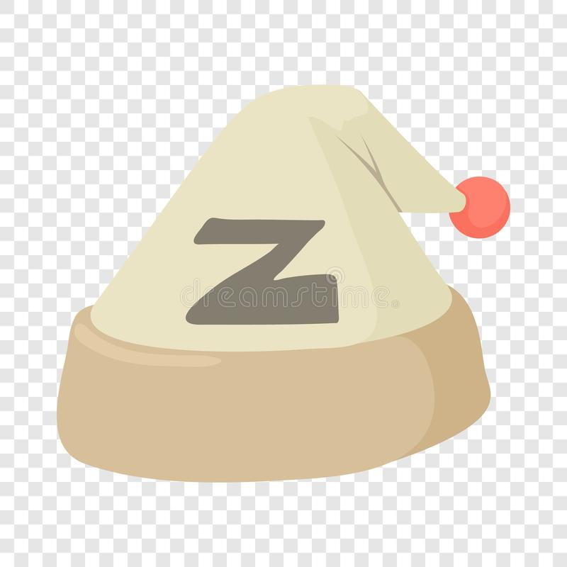 Sova hattsymbolen, tecknad filmstil stock illustrationer