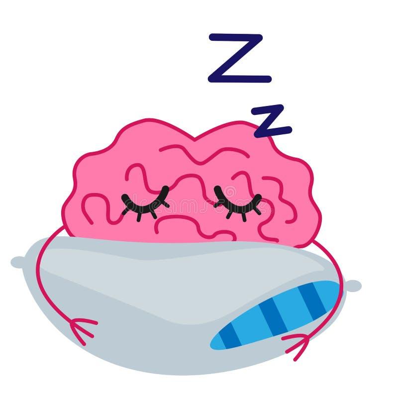 Sova hjärnvektorn stock illustrationer