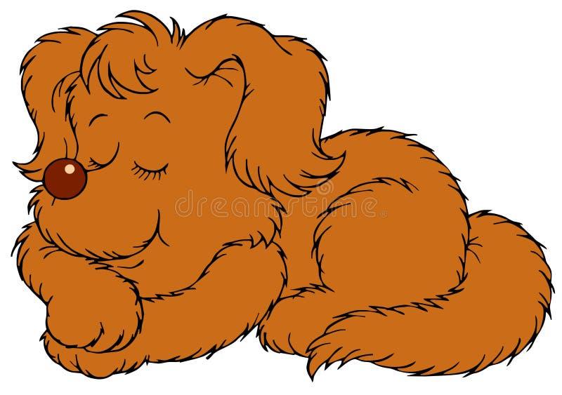 Sova hund royaltyfri illustrationer